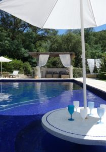 Swim-up Bar Pool Saint Tropez holiday rental villa Provence France