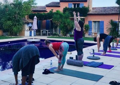 Villa Tropez Pool side Yoga