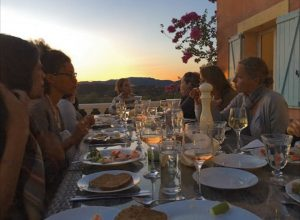 provence dinner at yoga retreat