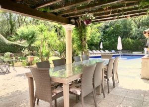 Outdoor dining Provence Saint Tropez holiday rental villa